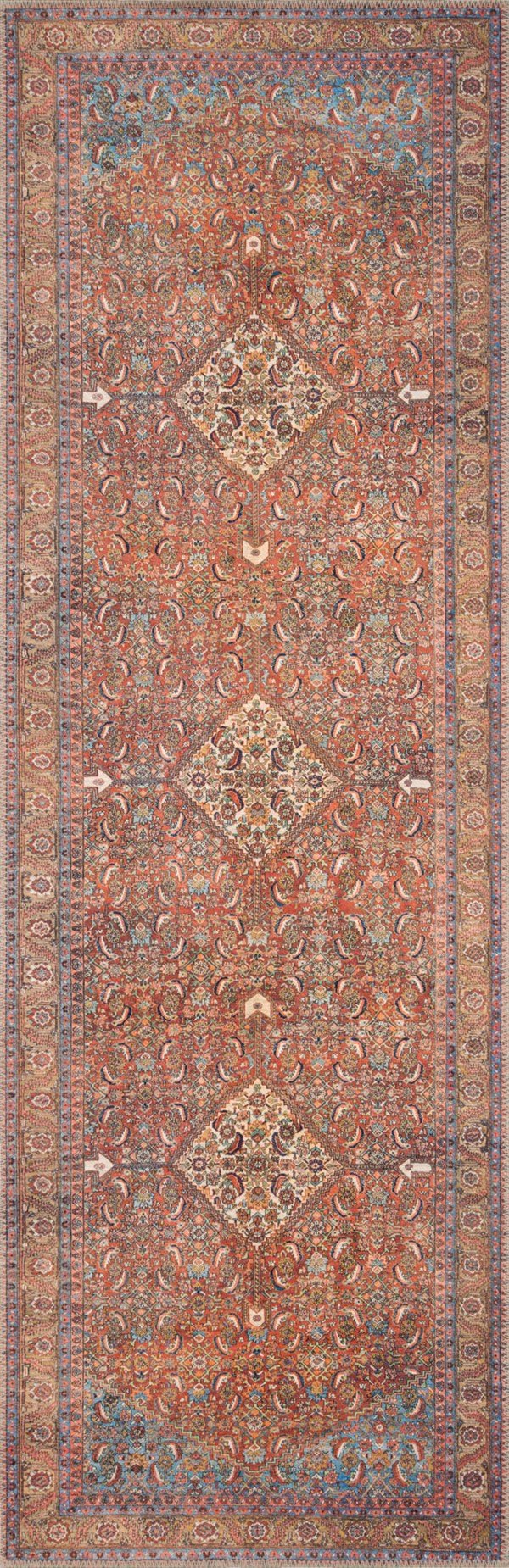 Red Vintage / Overdyed Area Rug