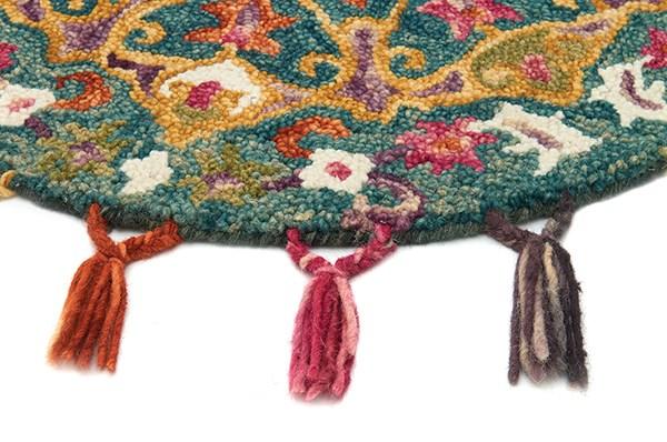Peacock, Gold (RU-05) Moroccan Area Rug