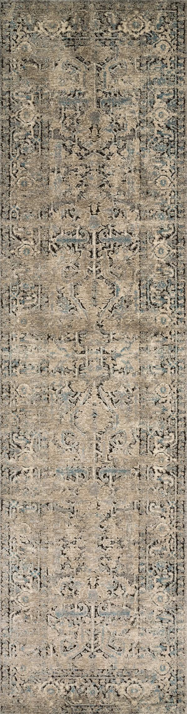 Grey, Stone Vintage / Overdyed Area Rug
