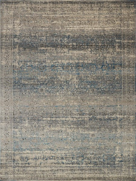 Grey, Blue Vintage / Overdyed Area Rug
