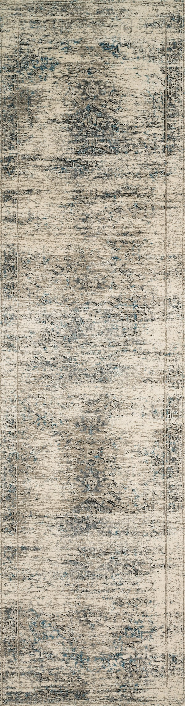 Taupe, Ivory Vintage / Overdyed Area Rug