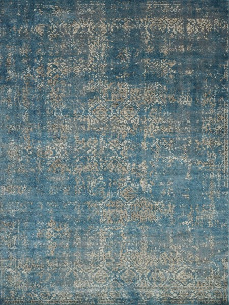 Blue, Taupe Vintage / Overdyed Area Rug