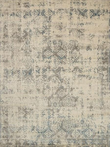 Ivory, Grey Vintage / Overdyed Area Rug