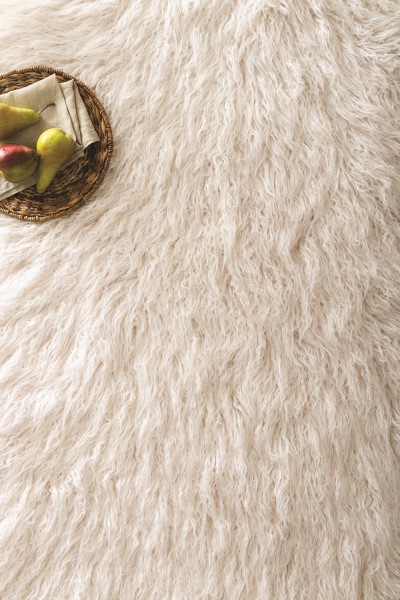 Ivory, Lilac Animals / Animal Skins Area Rug