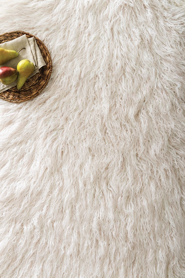 Ivory, Lilac Animals / Animal Skins Area Rug