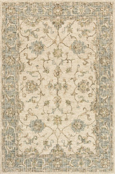 Ivory, Spa Traditional / Oriental Area Rug