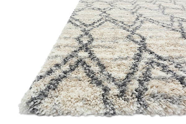 Sand, Graphite Shag Area Rug