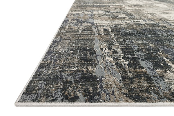 Ivory, Charcoal Vintage / Overdyed Area Rug