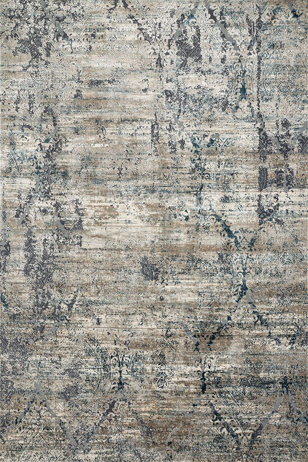 Taupe, Blue Vintage / Overdyed Area Rug