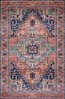Product Image of Coral, Blue Bohemian Area Rug