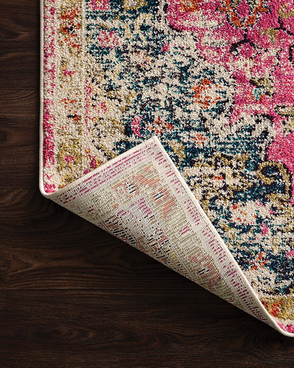 Pink, Midnight Traditional / Oriental Area Rug
