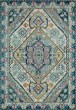 Product Image of Traditional / Oriental Aqua, Navy Area Rug