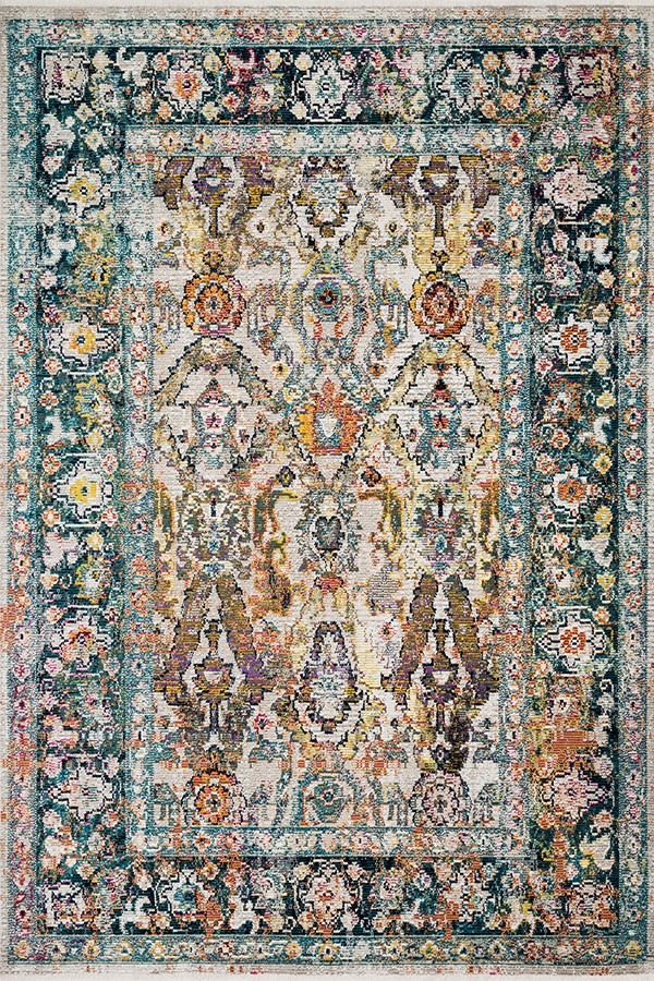 Stone, Teal Traditional / Oriental Area Rug