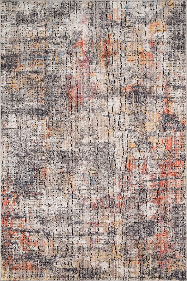 Graphite, Sunset Abstract Area Rug