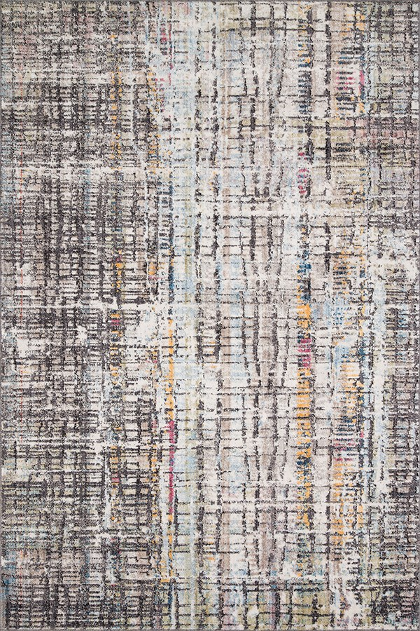 Charcoal Abstract Area Rug