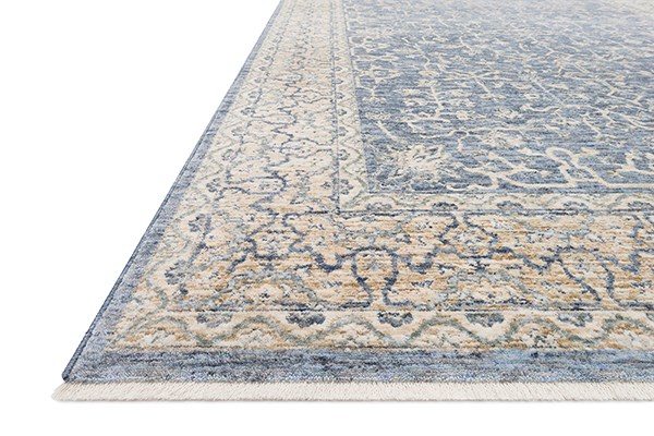 Dark Blue, Ivory Traditional / Oriental Area Rug