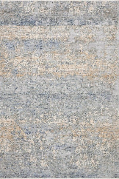 Blue, Gold Abstract Area Rug