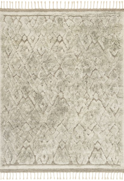 Grey, Mist Contemporary / Modern Area Rug