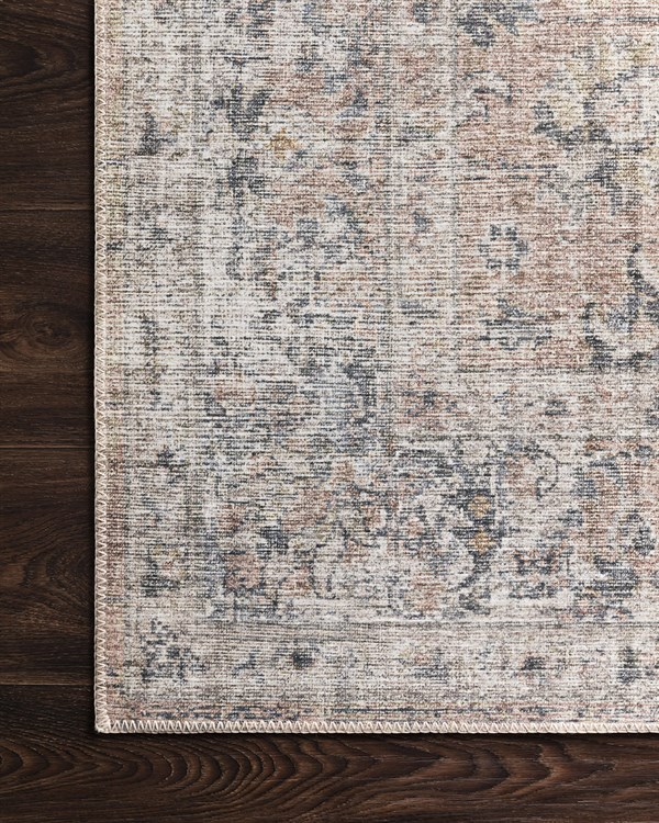 Grey, Blush Traditional / Oriental Area Rug