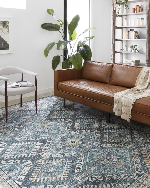 Denim, Natural Traditional / Oriental Area Rug