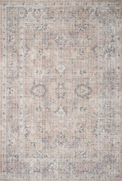 Grey, Blush Traditional / Oriental Area Rug