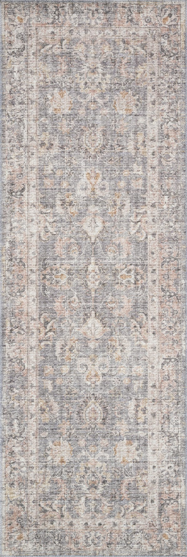 Grey, Apricot Traditional / Oriental Area Rug
