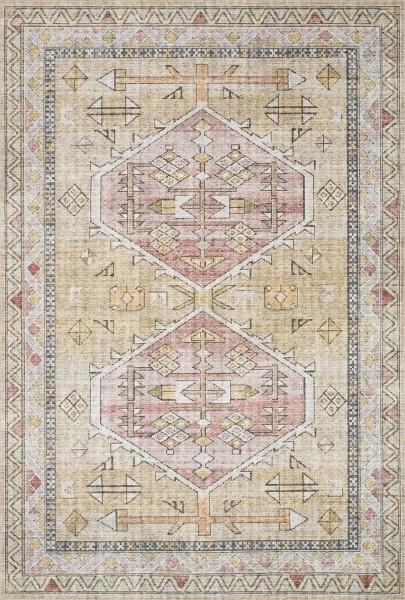 Gold, Blush Traditional / Oriental Area Rug