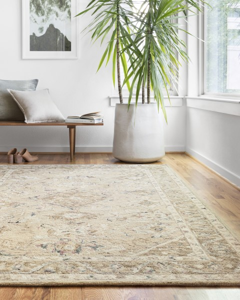 Beige, Ivory Traditional / Oriental Area Rug