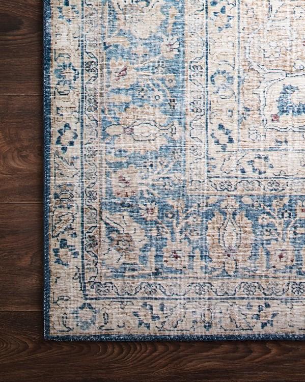 Blue, Tangerine Vintage / Overdyed Area Rug