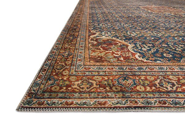 Cobalt Blue, Spice Traditional / Oriental Area Rug