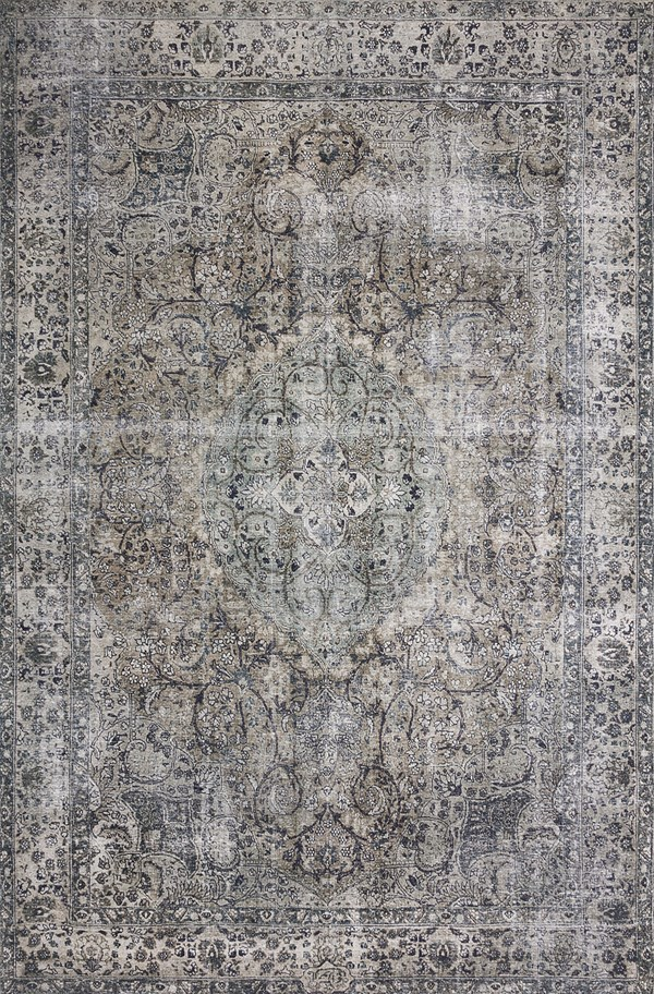 Taupe, Stone Vintage / Overdyed Area Rug