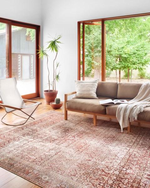 Cinnamon, Sage Vintage / Overdyed Area Rug