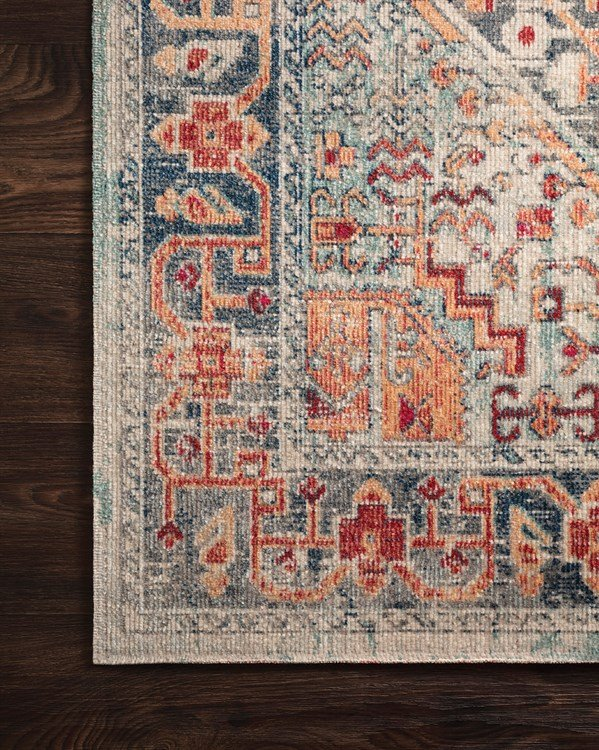 Blue, Fiesta Traditional / Oriental Area Rug