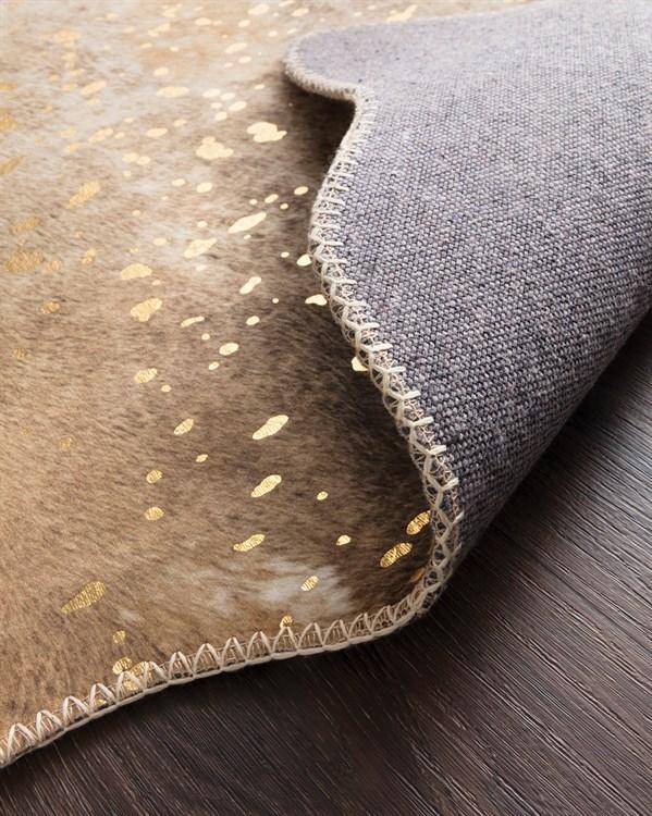 Mocha, Sand Animals / Animal Skins Area Rug