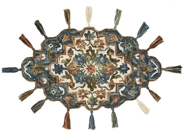 Blue, Terracotta Moroccan Area Rug