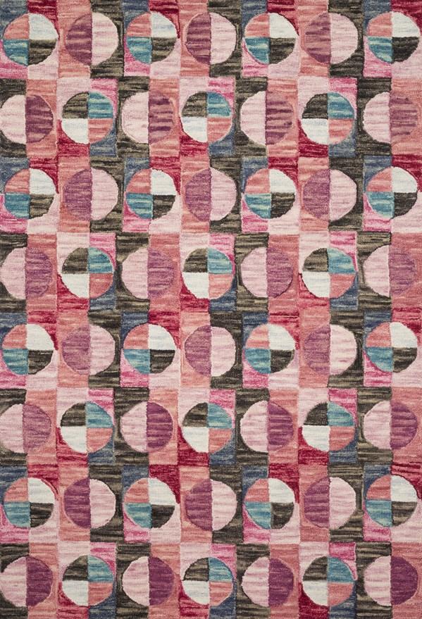 Berry, Charcoal Geometric Area Rug