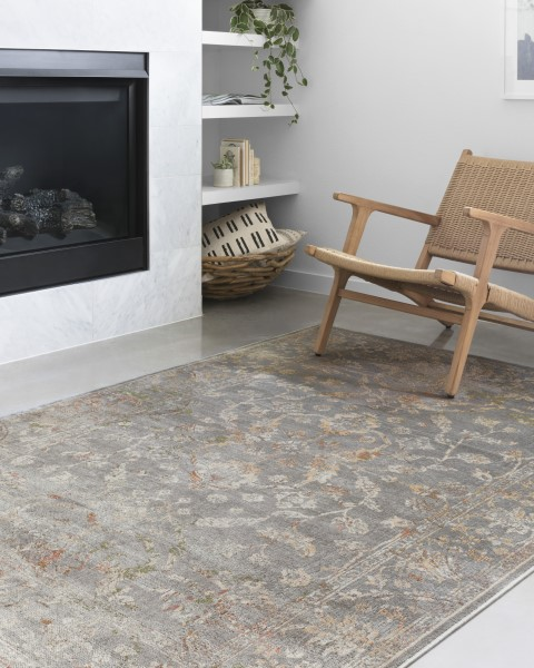 Silver Vintage / Overdyed Area Rug