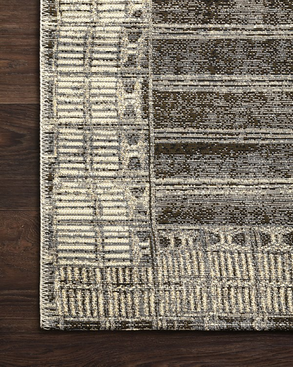 Charcoal, Ivory Outdoor / Indoor Area Rug