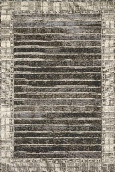 Charcoal, Ivory Outdoor / Indoor Area Rug