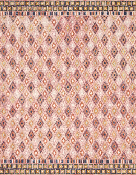 Pink, Sunset Bohemian Area Rug