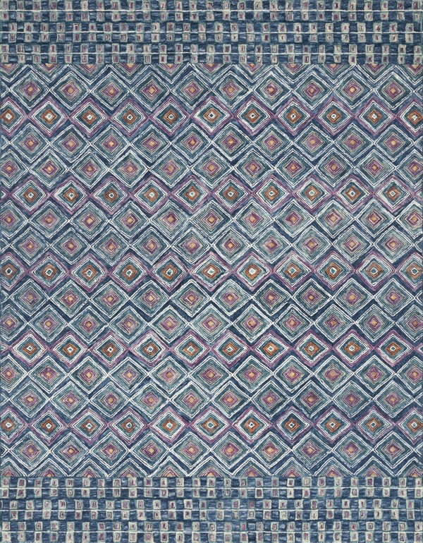Denim, Berry Bohemian Area Rug