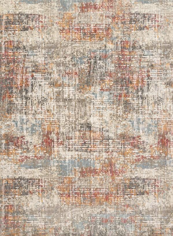 Beige, Orange Contemporary / Modern Area Rug