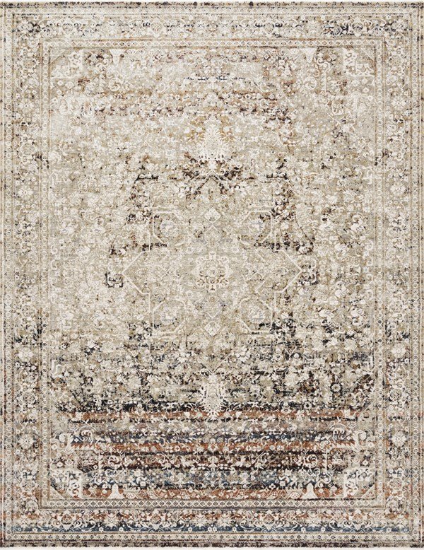 Taupe, Brick Traditional / Oriental Area Rug