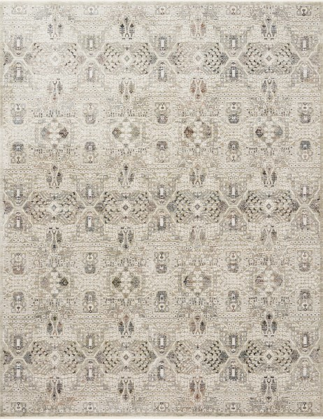 Granite, Ivory Traditional / Oriental Area Rug