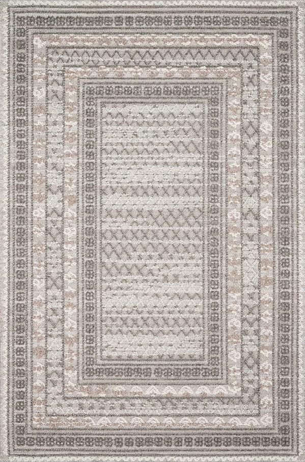 Grey, Taupe, Ivory Outdoor / Indoor Area Rug
