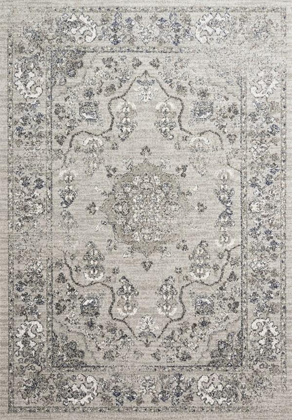 Dove, Grey Traditional / Oriental Area Rug