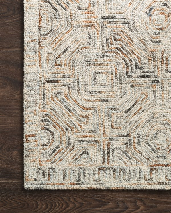 Beige, Rust, Grey Transitional Area Rug