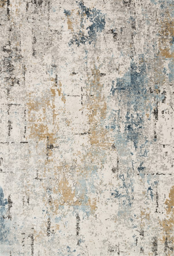 Stone, Slate Abstract Area Rug