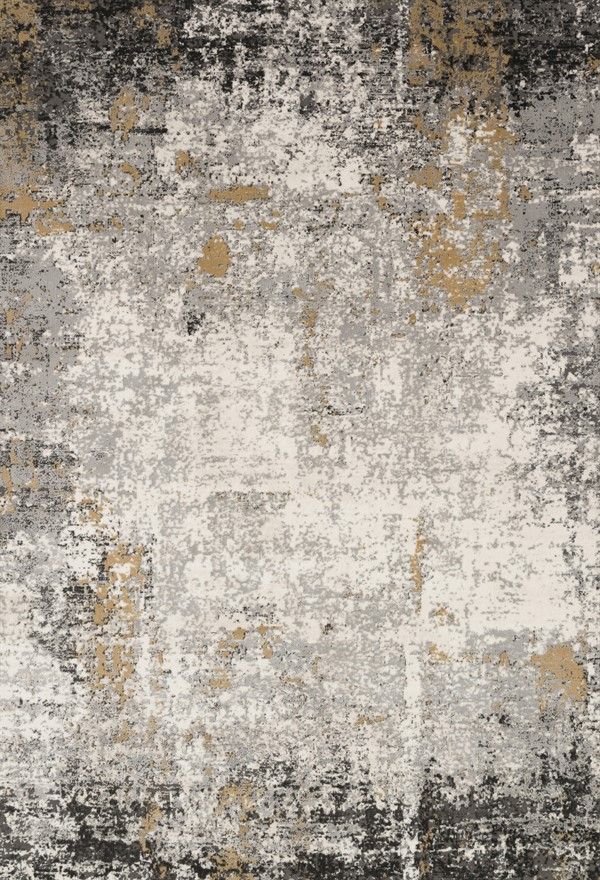 Granite, Gold Abstract Area Rug