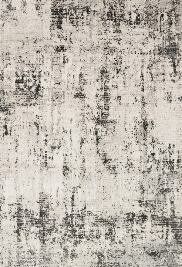 Silver, Graphite Abstract Area Rug